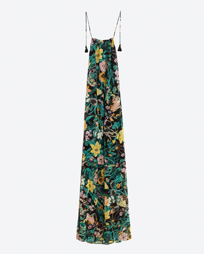 Zara Printed Maxi Dress