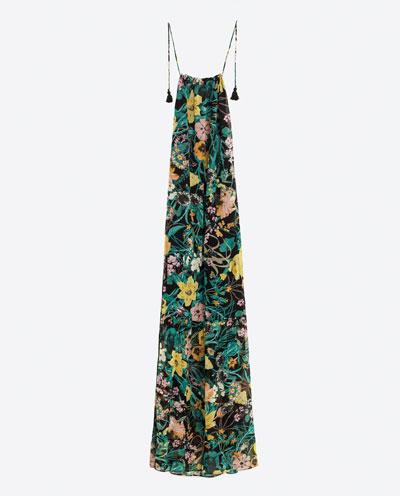 Zara Printed Maxi Dress