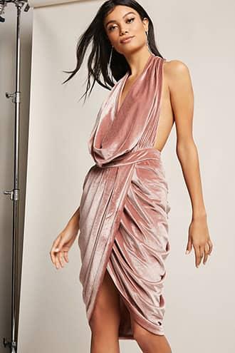 Forever 21 Draped Velvet Dress